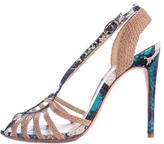 Alexandre Birman Embossed Leather Sandals