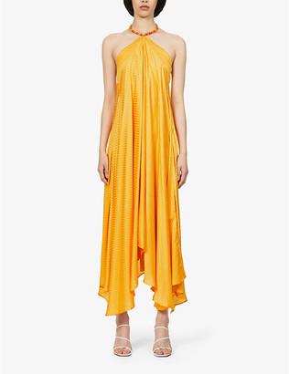 Galvan Terrazza jacquard-print silk maxi dress