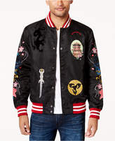 Reason Men's Patch Baseball Jacket