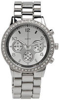 Aeropostale Womens Metal Boyfriend Watch Silver