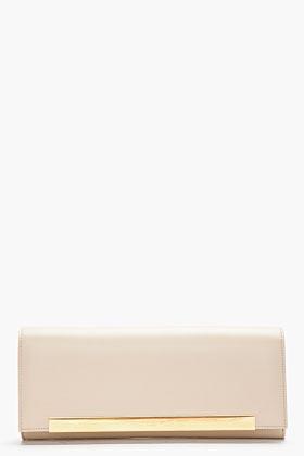 Saint Laurent Beige leather Lutetia Flap clutch