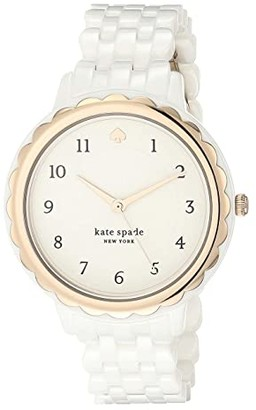 Kate Spade Morningside Ceramic Watch - KSW1585 (White) Watches