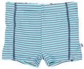 Bebe Baby Boys Jay Stripe Aqua Nappy Swim Trunk