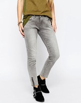 Blank NYC Morning Skinny Cropped Jean with Ankle Zips In Gray Wash