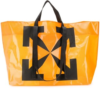Off-White Arrows print commercial tote