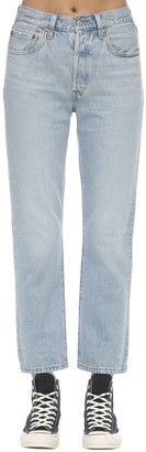 Levi's 501 Cropped High Rise Denim Jeans