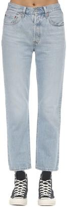 Levi's 501 Cropped High Rise Denim Jeans