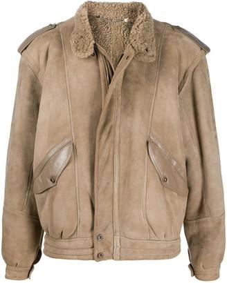 A.N.G.E.L.O. Vintage Cult 1980s Stand-Up Collar Sheepskin Jacket
