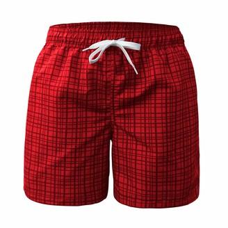 Freetrack Men's Swim Trunks Quick Dry Beach Shorts Board Short Bathing Suits Mesh Lining Swimwear with Pockets