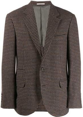 Brunello Cucinelli checked pattern blazer