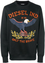 Diesel embroidered sweatshirt