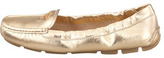 Prada Metallic Leather Scrunch Loafer