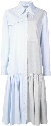 Tibi Collage Shirt Dress