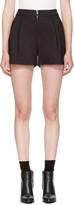 3.1 Phillip Lim Black Exposed Zip Shorts