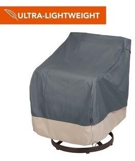 "Modern Leisure Renaissance Ultralite Outdoor Patio Swivel Chair Cover, 37.5""W x 39.25""D x 38.5""H, Gray"