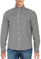 Ben Sherman Cotton Houndstooth Checked Shirt