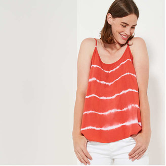 Joe Fresh Women's Woven Tank, Dark Orange (Size XS)