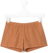 Hartford Kids - floral embroidered shorts - kids - Cotton - 16 yrs