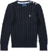Ralph Lauren 2-6X Cable-Knit Cotton Sweater
