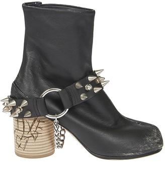 Maison Margiela Cleft Toe Spike Stud Boots