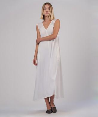Atm Sleeveless V-Neck Maxi Dress - White