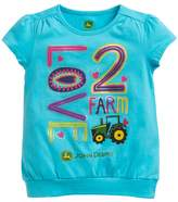 "John Deere Girls 4-6x Love 2 Farm"" Graphic Tee"