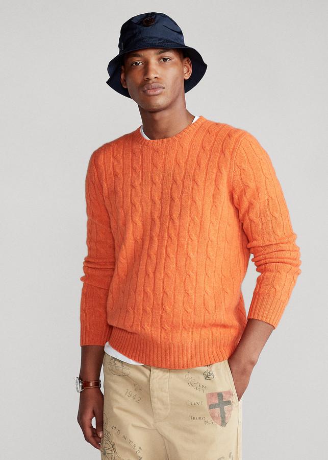 Ralph Lauren Orange Men S Sweaters Shop The World S Largest Collection Of Fashion Shopstyle
