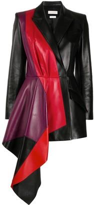 Alexander McQueen Contrasting Panel Draped Jacket