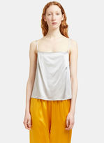 Base Range Baserange Women's Shankar Silk Strap Top in Silver
