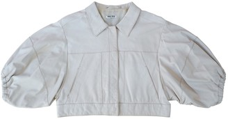 Miu Miu White Leather Top for Women