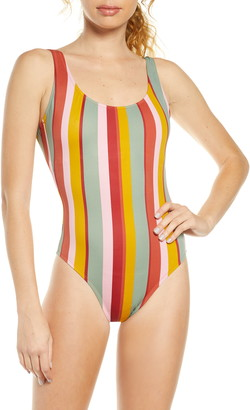 Madewell Second Wave Tank Tie Dye One-Piece Swimsuit