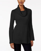 Style&Co. Style & Co. Ribbed Cowl-Neck Sweater, Only at Macy's