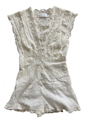 Zimmermann White Silk Jumpsuits