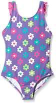Hatley Girl's Flower Garden Ruffle One Piece Swimsuit