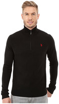 U.S. Polo Assn. Solid 1/4 Zip Sweater