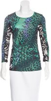 Emilio Pucci Lace-Accented Leopard Print Top w/ Tags