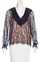 Alexis Lace Ruffle-Trimmed Top w/ Tags