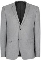Topman Gray Salt and Pepper Textured Skinny Fit Blazer