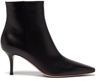 Gianvito Rossi Square-point 70 Leather Ankle Boots - Black