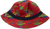 John Lewis Children's Cuba Car Print Bucket Hat, Dark Orange