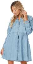 Swell Chambray Shirt Dress Blue