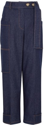 REJINA PYO Sadie blue denim trousers