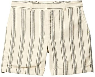 Lauren Ralph Lauren Striped Linen Twill Shorts (Cream Multi) Women's Shorts