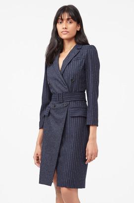 Rebecca Taylor Tailored Pinstripe Blazer Dress