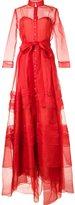 Carolina Herrera belted organza gown