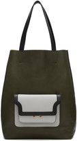 Marni Brown Hexagonal Shopper Tote