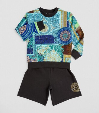 Versace Kids Baroque Patchwork Sweatshirt (4-14 Years)