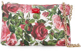 Dolce & Gabbana rose print chain clutch - women - Cotton/Polyester/Polyurethane - One Size