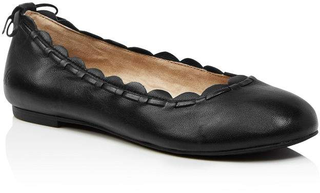 c198ac8887478 Women's Lucie II Scalloped Leather Ballet Flats