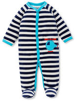 Offspring Striped Snap Front Footie